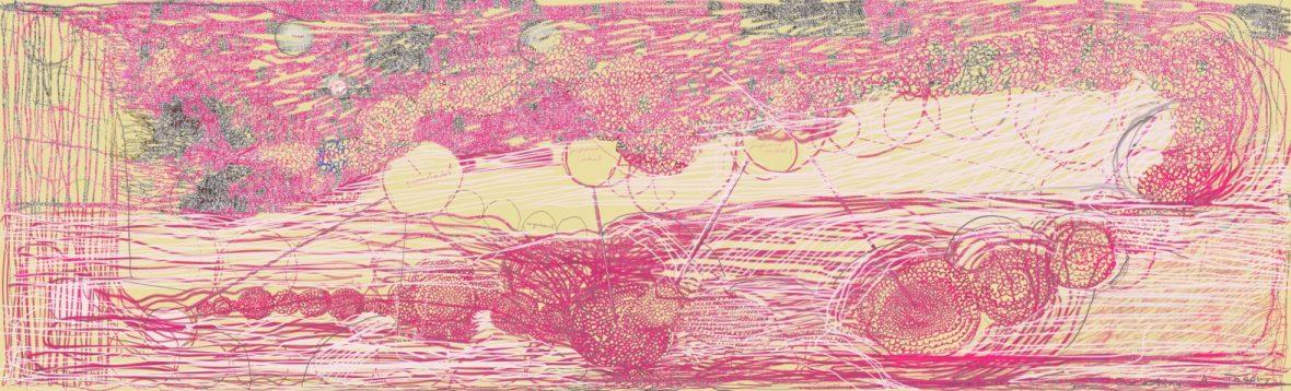 Att skapa en teori, pigmenttryck 34,5 x 113, 5 cm 2018