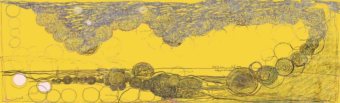 Tolkningens horisont, pigmenttryck 34,5 x 113,5 cm 2018