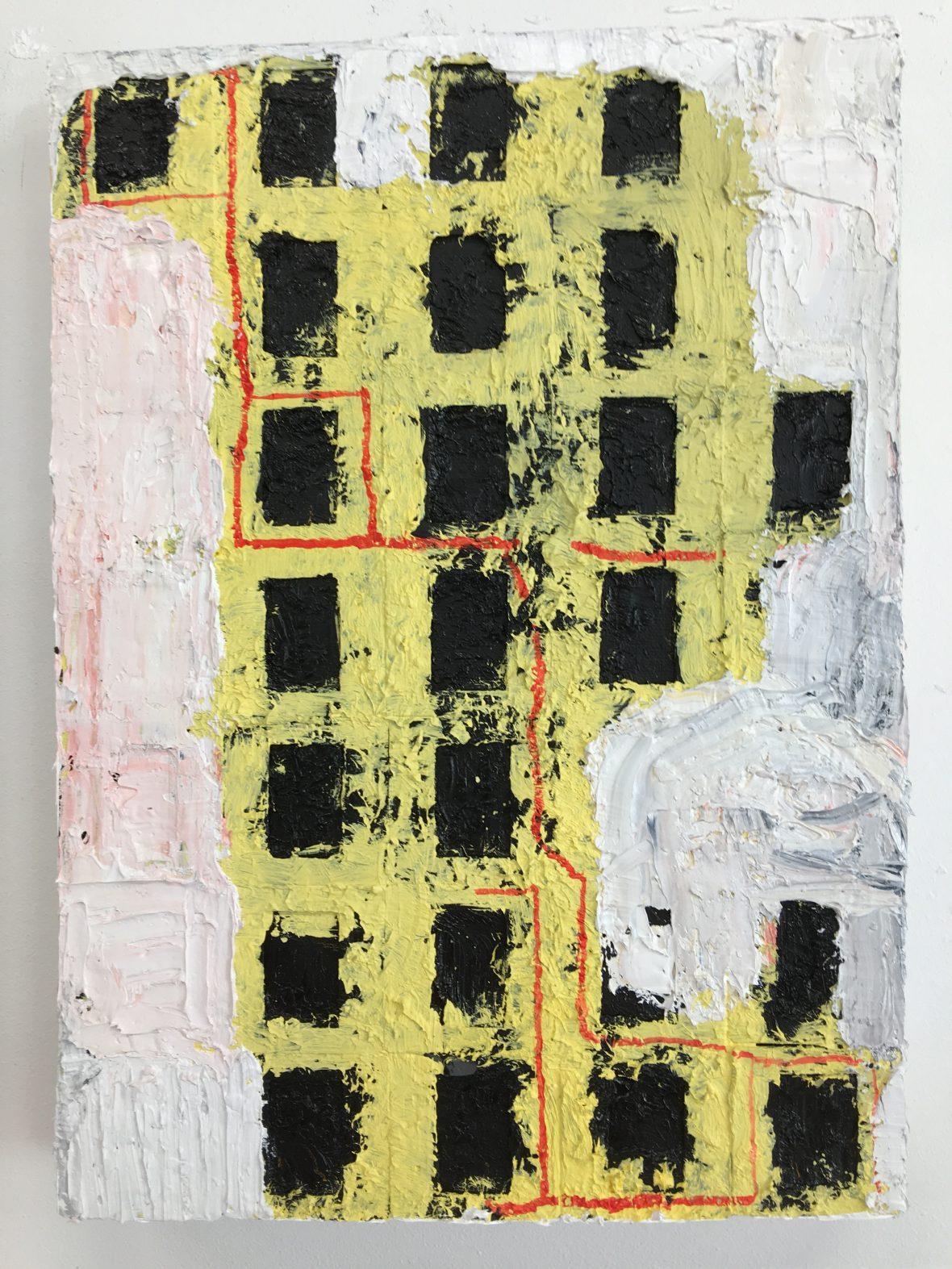 Målning / Maalaus / Painting 35 x 25 cm, 2018