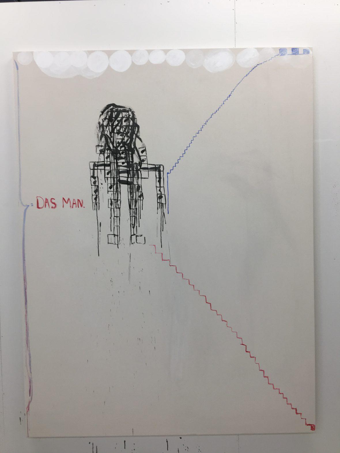 Das Man, 190 x 145 cm, akryyli 2018