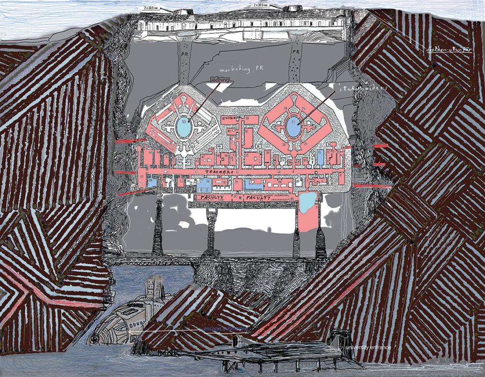 Världen utanför, pigmenttryck 50 x 65 cm, 2017